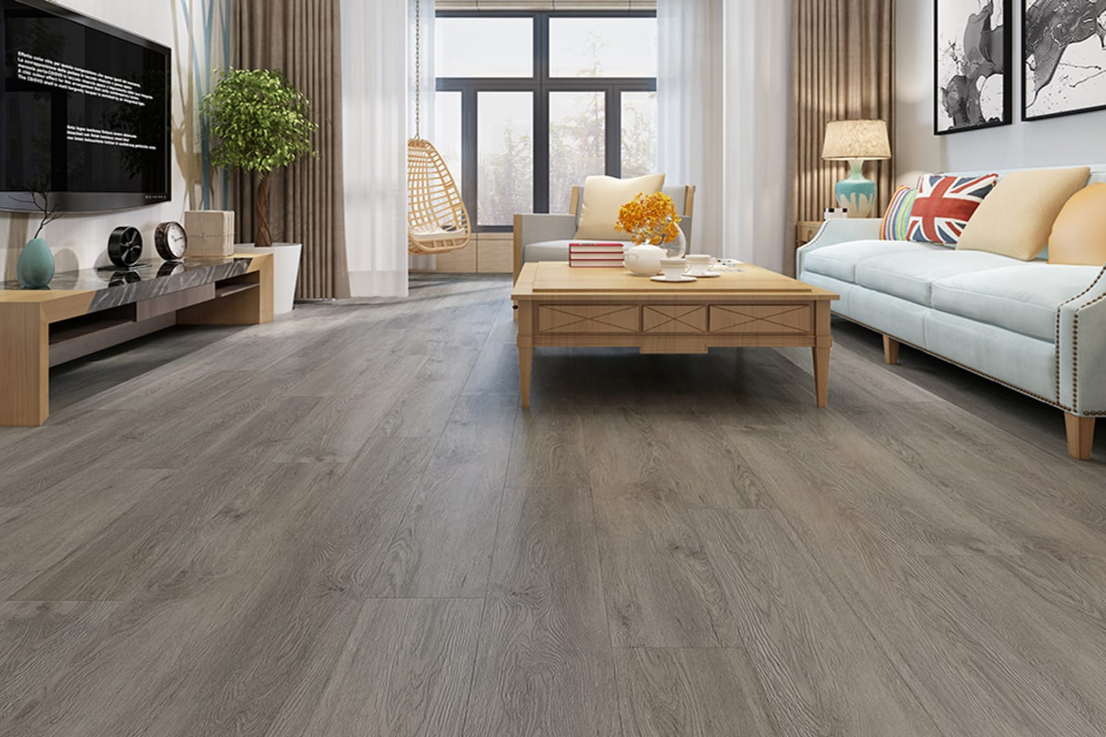Grey Washed Wood Effect Waterproof Luxury Vinyl Click ... |Vinyl Click Flooring