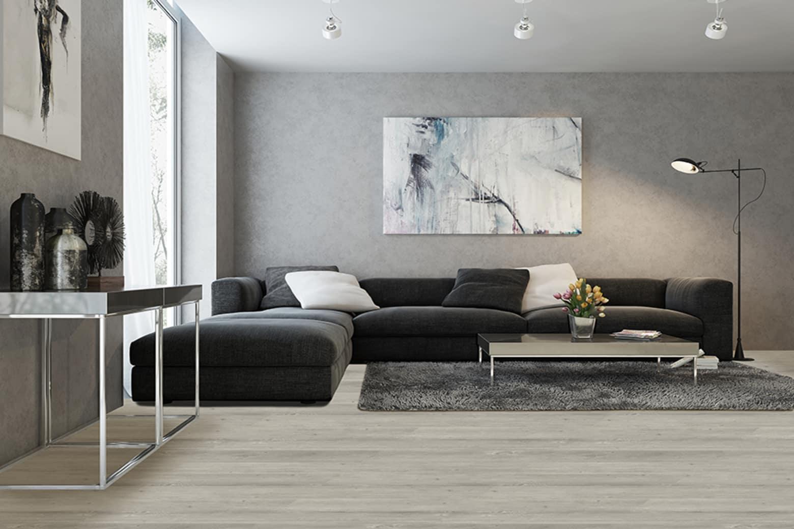 Luxury Click Vinyl Flooring Br Grey Oiled Oak 5mm By 169mm By 1210mm