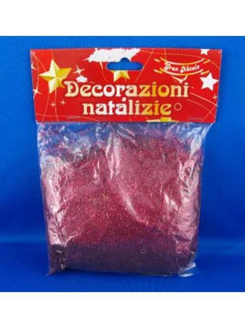 Polvere Glitter Colore Rosso Gr. 50 - Per Decorazioni