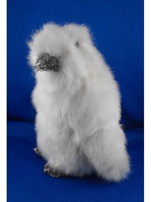 Pinguino Piccolo Colore Bianco Con Pelliccia