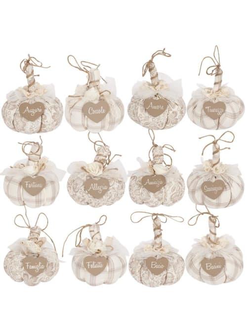 Angelica Home & Country zucca con cuore decorativa