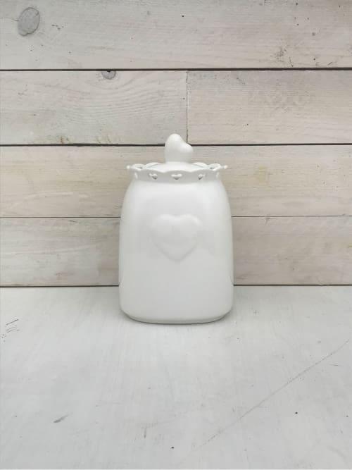 Barattolo cuore in ceramica - Lorenzongift