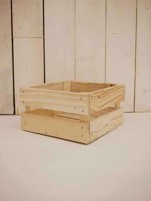 Cassetta in legno naturale