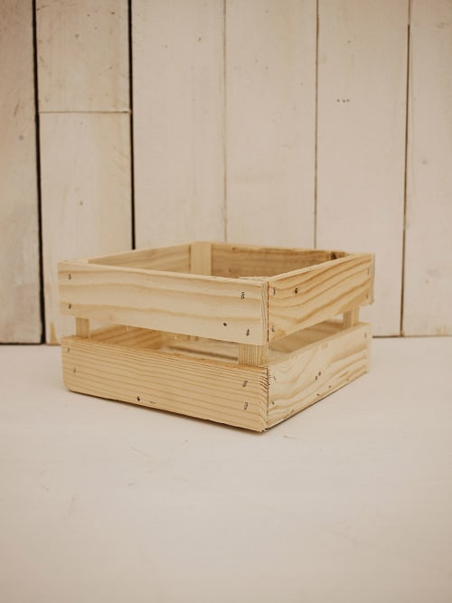 Cassetta in legno naturale quadrata