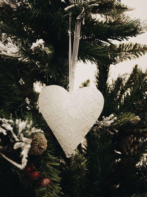 Lorenzongift cuore in metallo bianco