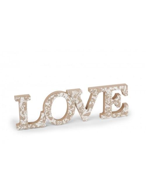Decorazione scritta Love - Disraeli