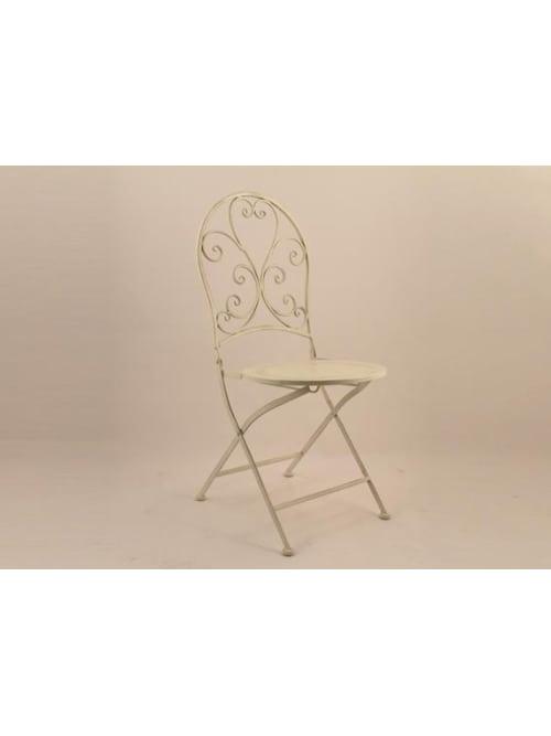 Disraeli sedia in ferro color crema