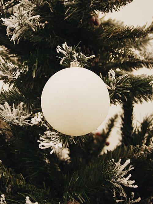 Set 6 palline di Natale bianche - Ab.MIdea