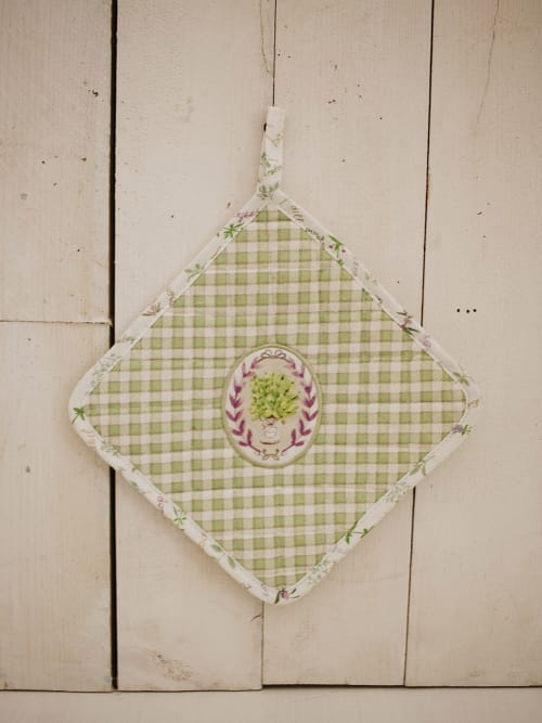 Presina verde a quadretti - Angelica home & country