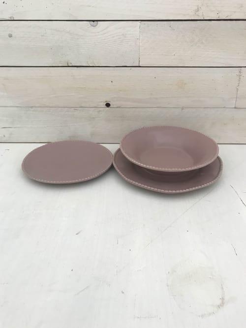 Servizio piatti da sei rosa - Lorenzongift
