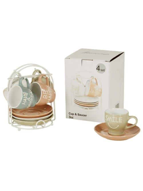 Set 4 tazzine da caffè con piedistallo - Lorenzongift