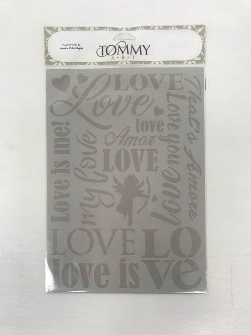 Stencil scritte Love - Tommy Art