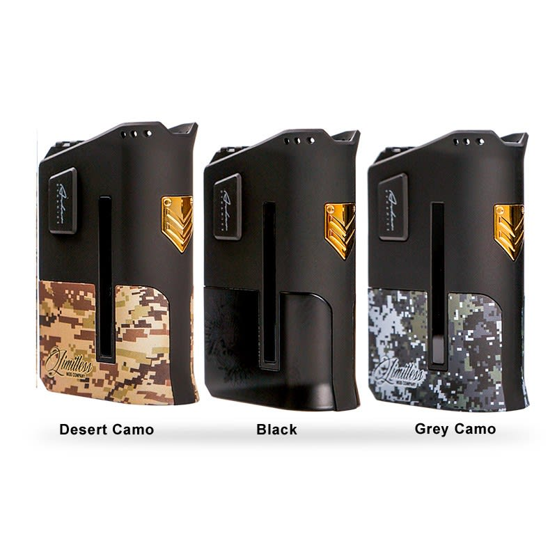 Limitless Arms Race 200W - Desert Camo, Black, Grey Camo