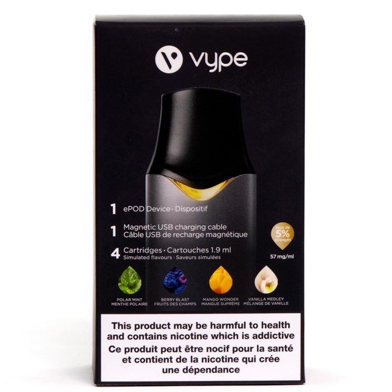 Vype ePod Discovery Bundle - Graphite Black, 5% (57mg/mL)