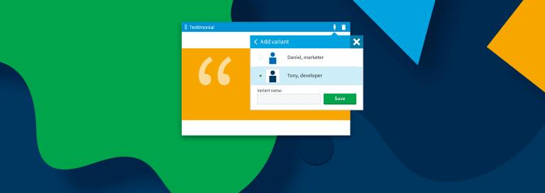 Content Personalization via MVC Widgets in Kentico 12