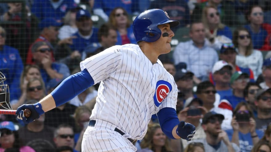 Watch: Anthony Rizzo dents Budweiser sign with monster 3-run home run