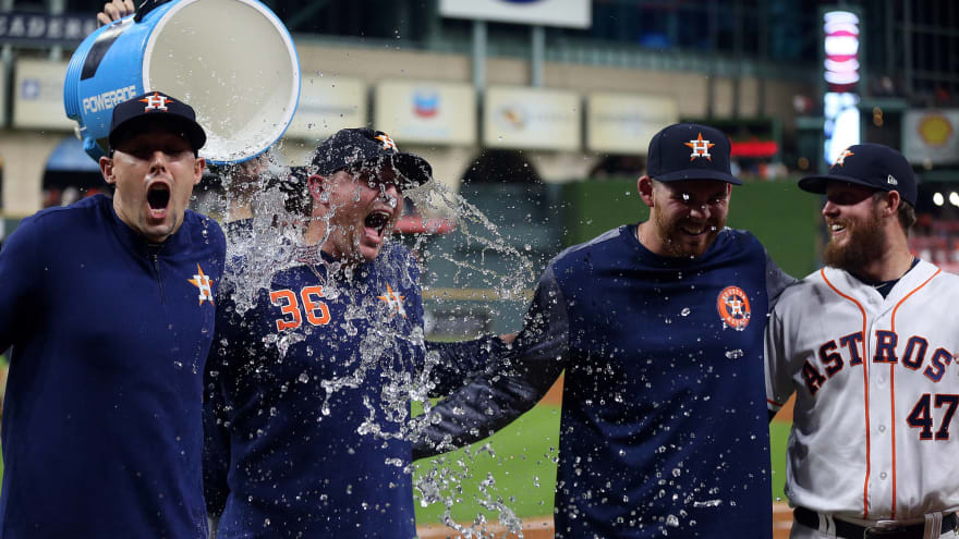Aaron Sanchez, Joe Biagini combine on no-hitter in Astros debuts