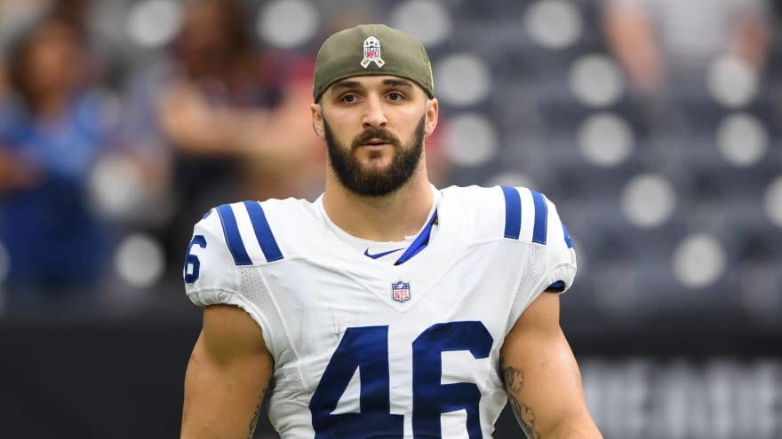timeless design d84c8 fd493 Colts sign long snapper Luke Rhodes to four-year extension ...