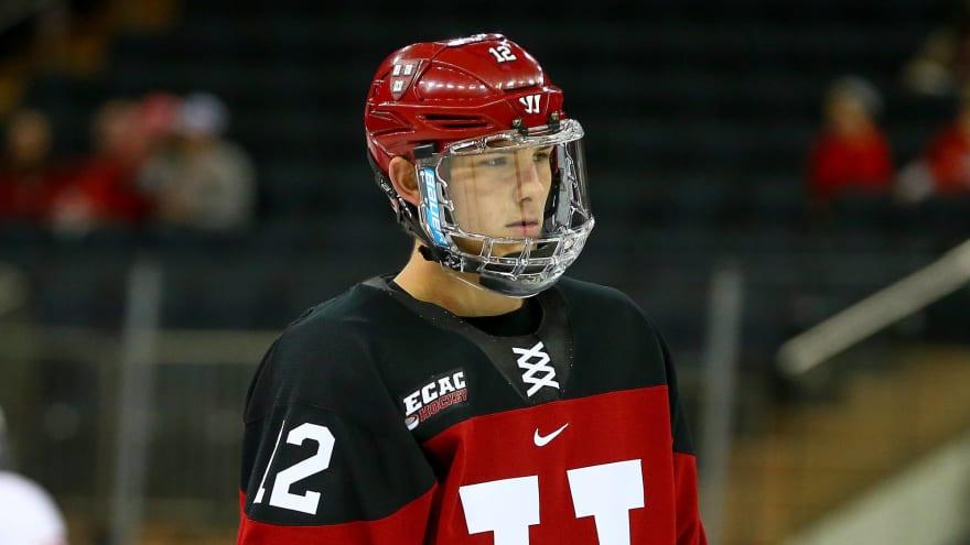John Marino to forgo senior season at Harvard, signs deal with Penguins