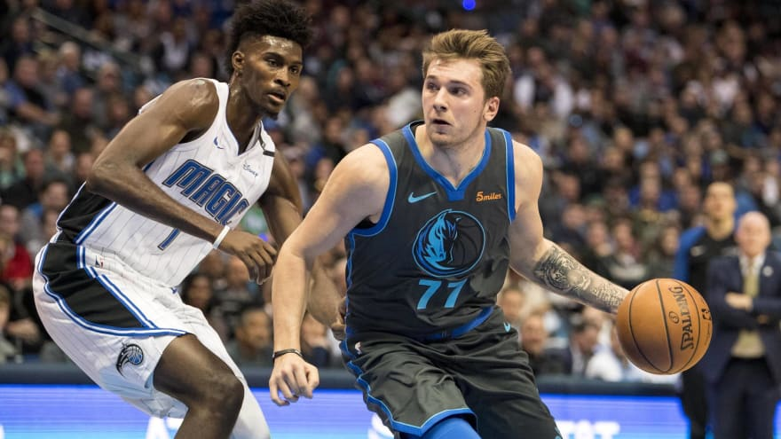 Watch: Luka Doncic with beautiful nutmeg assist