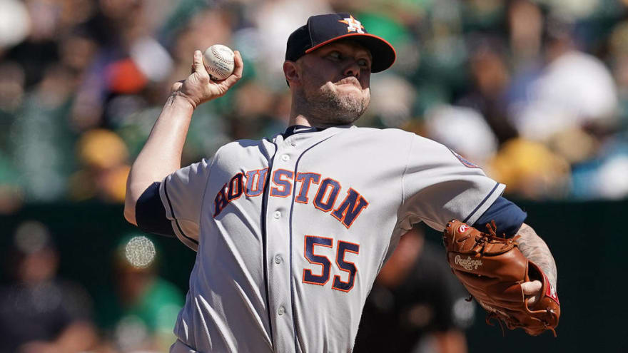 Astros activate All-Star RP Ryan Pressly off injured list