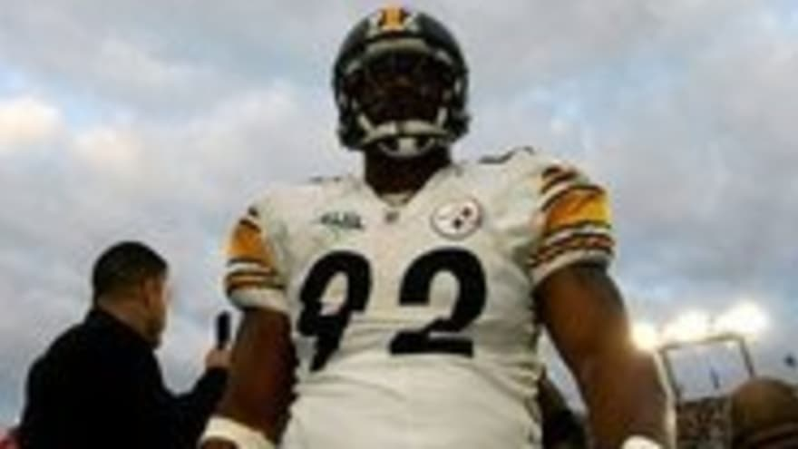 buy popular e7298 c58fd Steelers LB James Harrison Spits on Super Bowl Champ White ...