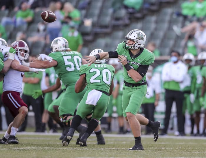 Middle Tennessee (2-5) at No. 16 Marshall (6-0), Saturday, Noon, CBS Sports Network