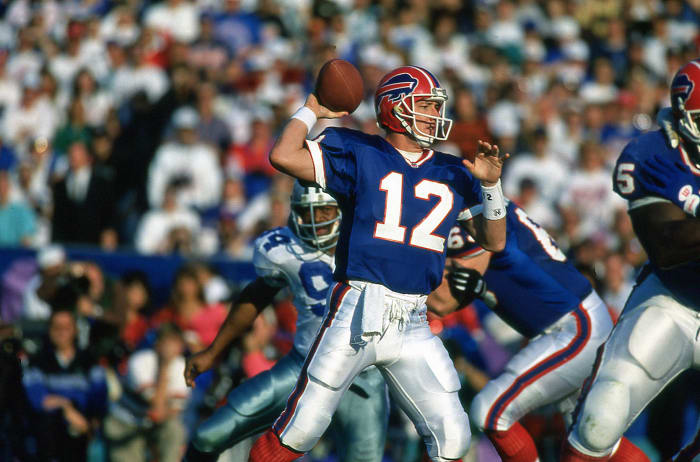 Super Bowl XXVII: Troy Aikman, Dallas Cowboys, and Jim Kelly, Buffalo Bills