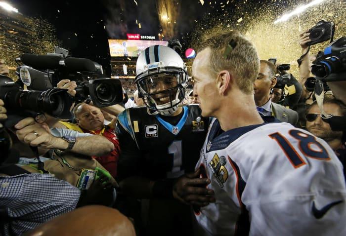 Super Bowl 50: Peyton Manning, Denver Broncos, and Cam Newton, Carolina Panthers