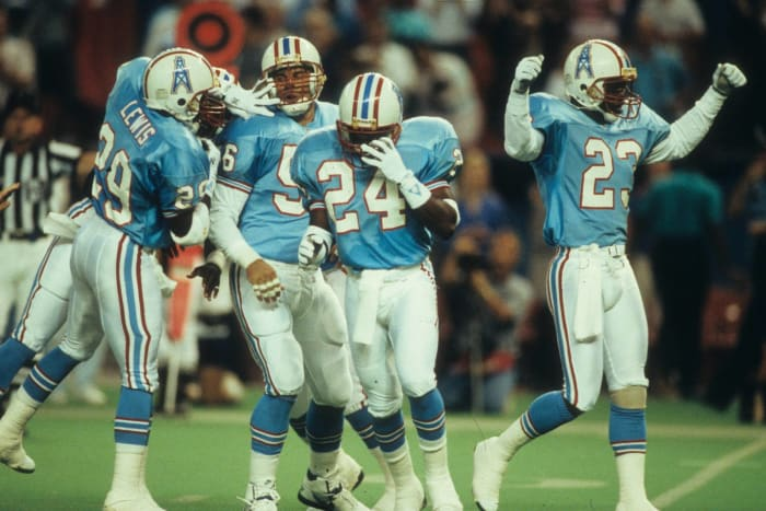 Tennessee Titans/Houston Oilers' best look: 1975-97 home