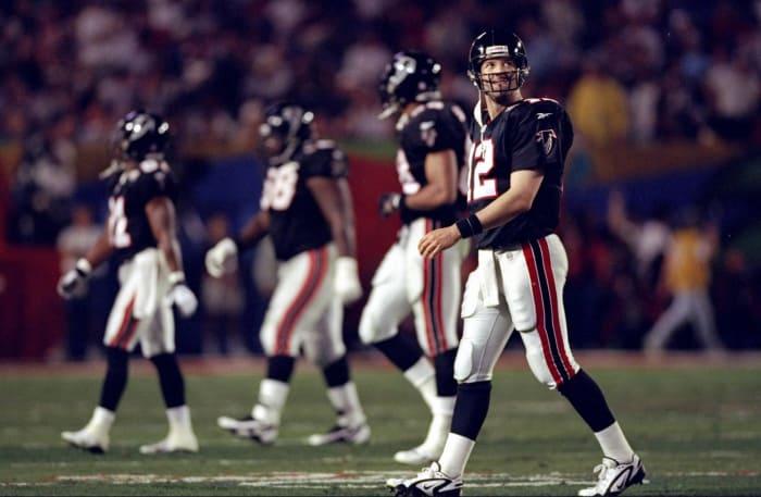Super Bowl XXXIII: John Elway, Denver Broncos, and Chris Chandler, Atlanta Falcons