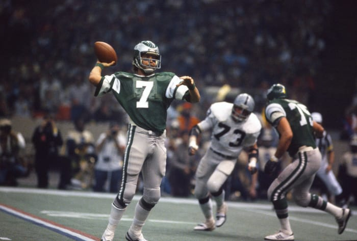 Super Bowl XV: Jim Plunkett, Oakland Raiders, and Ron Jaworski, Philadelphia Eagles
