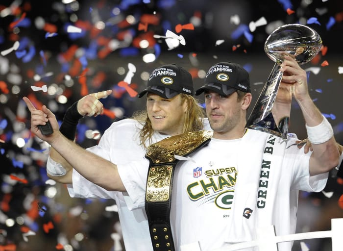 Super Bowl XLV: Aaron Rodgers, Green Bay Packers, and Ben Roethlisberger, Pittsburgh Steelers