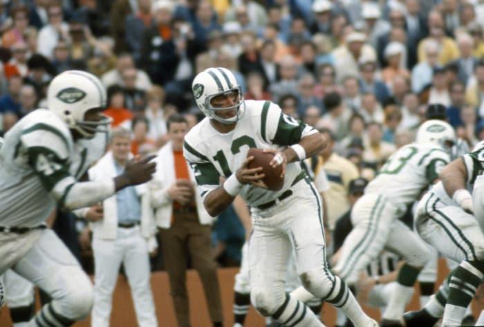 Super Bowl III: Joe Namath, New York Jets, and Earl Morrall, Baltimore Colts