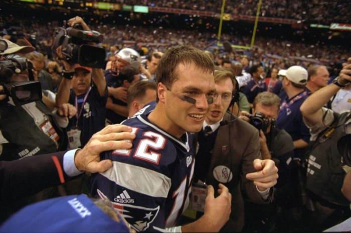 Tom Brady, QB, New England Patriots - Super Bowl XXXVI