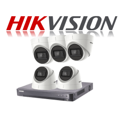 HikVision Turbo HD up to 5MP 8Ch Audio Kit with 5 x 5 MP 30m IR H