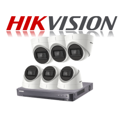 HikVision Turbo HD up to 5MP 8Ch Audio Kit with 6 x 5 MP 30m IR H