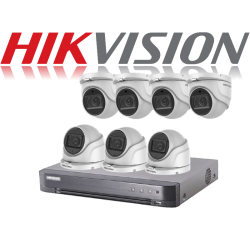 HikVision Turbo HD up to 5MP 8Ch Audio Kit with 7 x 5 MP 40m IR H