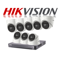 HikVision Turbo HD up to 5MP 8Ch Audio Kit with 8 x 5 MP 30m IR H