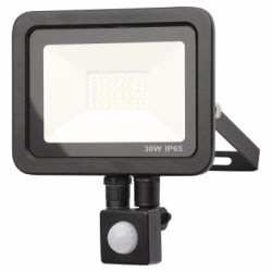 Zinc ZN-31299-BLK - Rye 30 W Slimline LED Flood  With PIR Blk