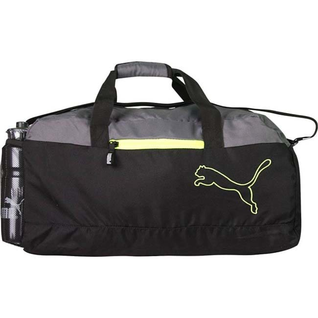 Puma FUNDAMENTAL SPORTS BLACK GREY Travel Duffel Bag  (Black, Grey)