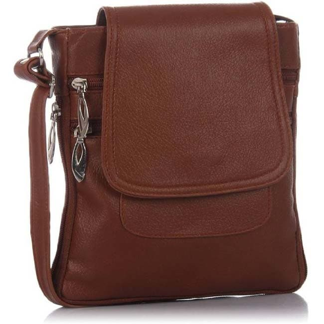 Branded Sling Bag  (Brown)