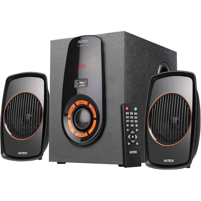 Intex IT-2500 FMU Home Audio Speaker  (Black, 2.1 Channel)