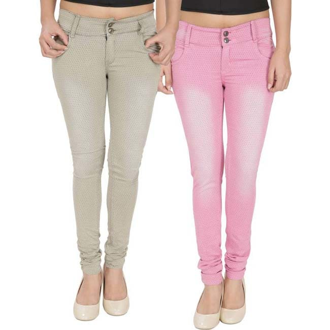 NJ's Skinny Women's Pink, Brown Jeans