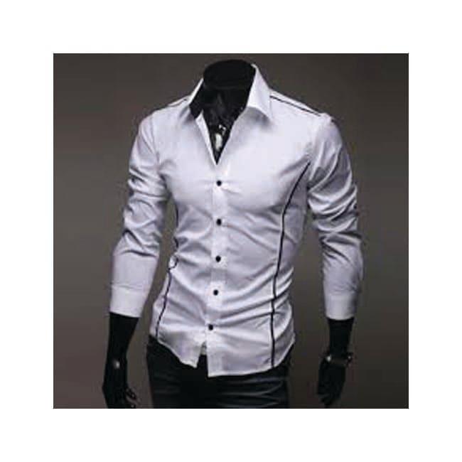 Jeansian Mens Dress Casual Shirt Slim Fashion Trend Stylish