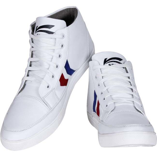 Kraasa Long Sports Cricket Shoes  (White)