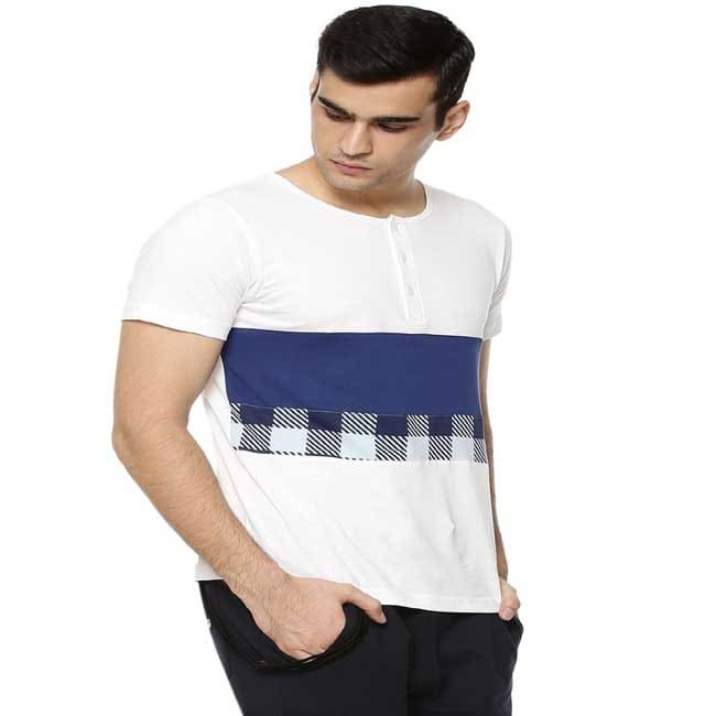 T-Shirt With Concealed Placket